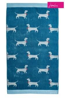 Toalla con diseño de perro salchicha de Joules