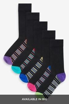 Ponožky so zosilnenými chodidlami, 5 párov