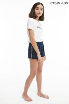 Calvin Klein White Intense Power Knit Pyjama Short Set