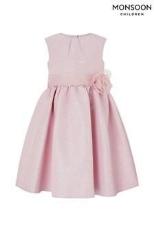 Monsoon Vivienne Jacquard-Kleid, staubrosa