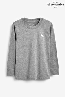 Abercrombie & Fitch Grey Long Sleeve Basic Jumper