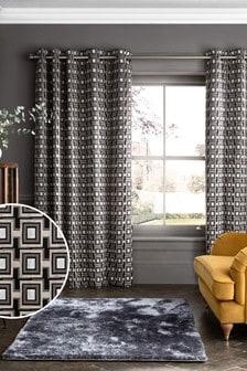 Черно-золотистые бархатные шторы с люверсами Collection Luxe