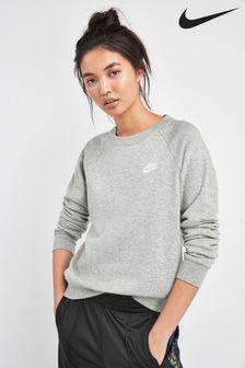 Nike Essential Fleece-Obeteil mit Rundhalsausschnitt