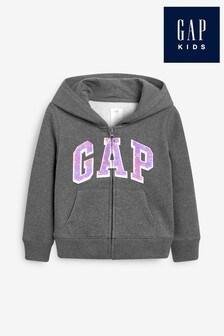 Gap Flippy Sequin Logo Zip Through Hoody