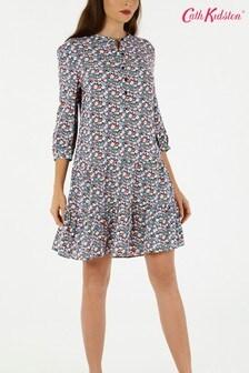 Cath Kidston® Blue Mews Ditsy A-Line Dress