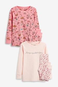 2 пижамы с цветочным рисунком (3-16 лет)
