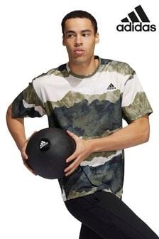 adidas Olive Yoga T-Shirt