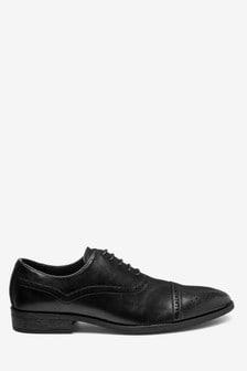 Toe Cap Oxford Shoes