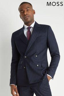 Moss London Skinny Fit Blue Stripe Suit