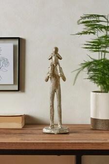 Father and Child Figurine