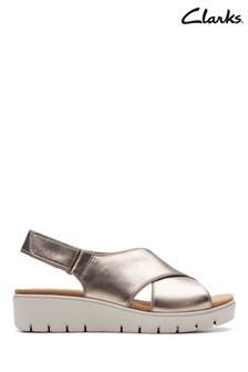 Clarks Gold Un Karely Sun Sandal
