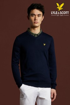 Lyle & Scott Golf Marl V-Neck Merino Jumper