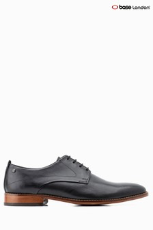 Base London® Black Script Lace-Up Shoe