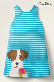 Boden Blue Appliqué Jersey Dress