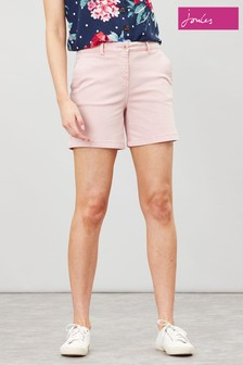 Joules Pink Cruise Mid Thigh Chino Shorts