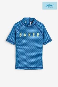Синий солнцезащитный топ с геометрическим принтом Baker by Ted Baker (для мальчиков)