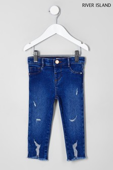 River Island Olympic Buzzy Molly Jeans, Blau
