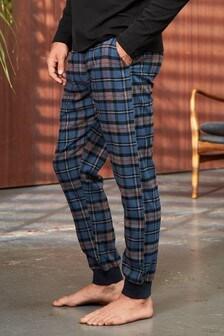 Check Brushed Woven Cuffed Pyjama Bottoms