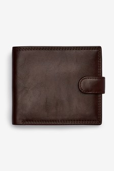 Полиуретановый бумажник на кнопке