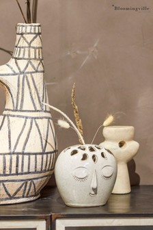 Bloomingville White Stoneware Vase