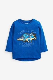 Лонгслив с пайетками Dino Flippy (9 мес. - 7 лет)
