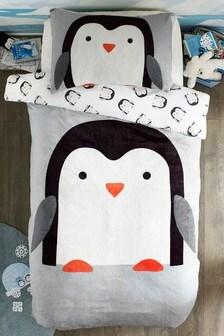 Набор из флисового пододеяльника и наволочки с пингвинами