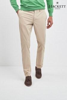 Pantaloni chino slim fit Hackett Kensington camel