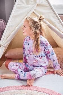 Schmetterling Pyjama-Set Crop-Top und Leggings (3-16yrs)