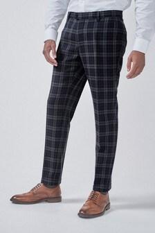 Tartan Check Skinny Fit Trousers