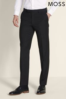 Moss London Skinny Fit Black Stretch Trouser