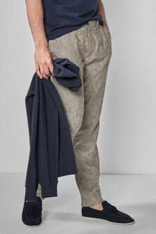 Узкие брюки чинос с добавлением льна