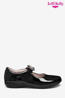 Lelli Kelly Black Patent Blossom Unicorn Dolly Shoes