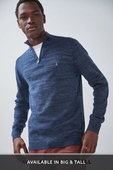 Marl Zip Neck Jumper