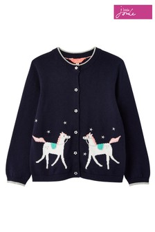 Joules Navy Madison Unicorn Cardigan