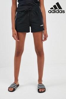 شورت أسود 3 أشرطة من Adidas