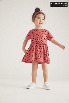 Myleene Klass Kids Sommerkleid mit Leopardenmuster und Bindeband am Rücken