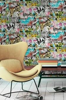 Urban Walls Multi Ripped Poster Wallpaper
