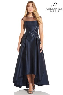Adrianna Papell Mikado High Low Dress
