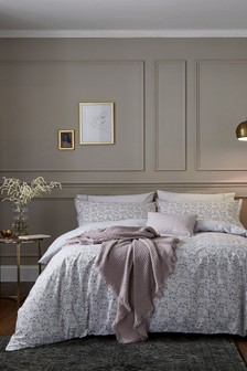 Fable Purple Mirabel Duvet Cover and Pillowcase Set