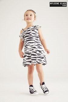 Myleene Klass Kids Sommerkleid mit Rüschen und Zebramuster