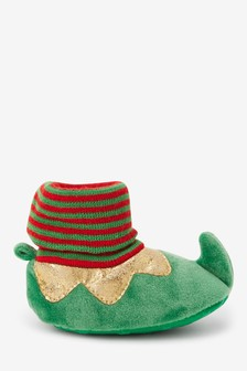 Slip-On Elf Pram Booties (0-24mths)