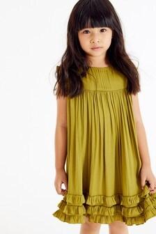 فستان ستان بكشكشة (3-16 سنة)