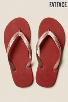 FatFace Pink Portloe Metallic Flip Flop