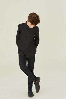 Классическая рубашка с длинным рукавом (3-16 лет)