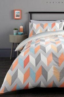 Fusion Grafix Geo Duvet Cover and Pillowcase Set