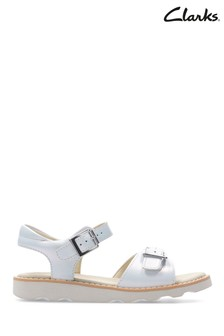 Clarks White Crown Bloom K Sandal