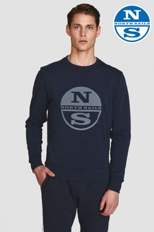 North Sails Blue Round Neck With Graphic