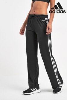 adidas Black D2M 3 Stripe Joggers