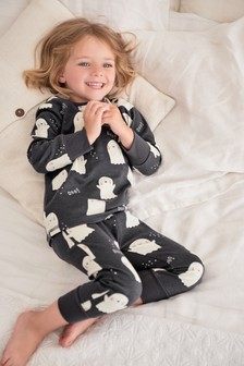 Glow In The Dark Ghost Pyjamas (9mths-8yrs)