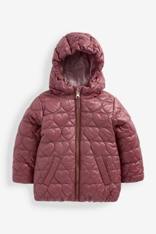 Heart Quilted Shower Resistant Coat (3mths-7yrs)